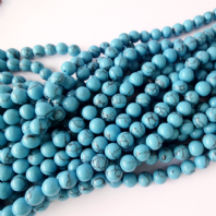 16 Inch 6mm Round  Turquoise Beads